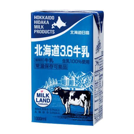 北海道日高 北海道 3.6牛乳 1000ml